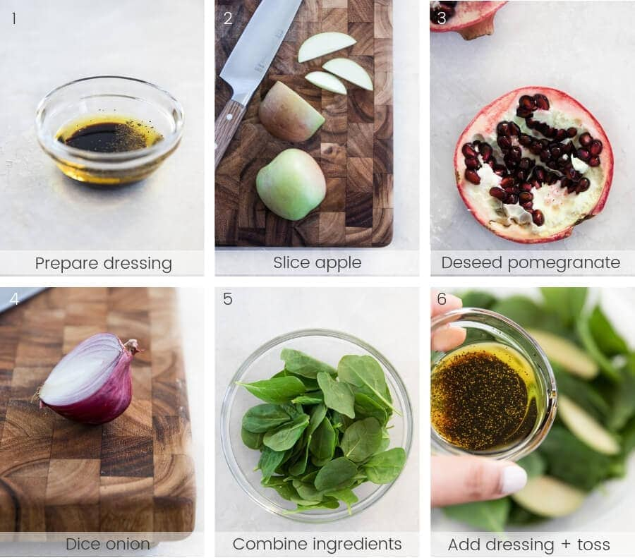 Step-by-step instructions on how to make the salad.