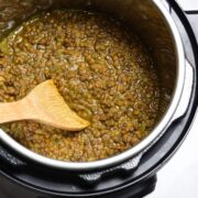 Instant Pot filled with lentil soup