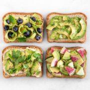 Four avocado toasts