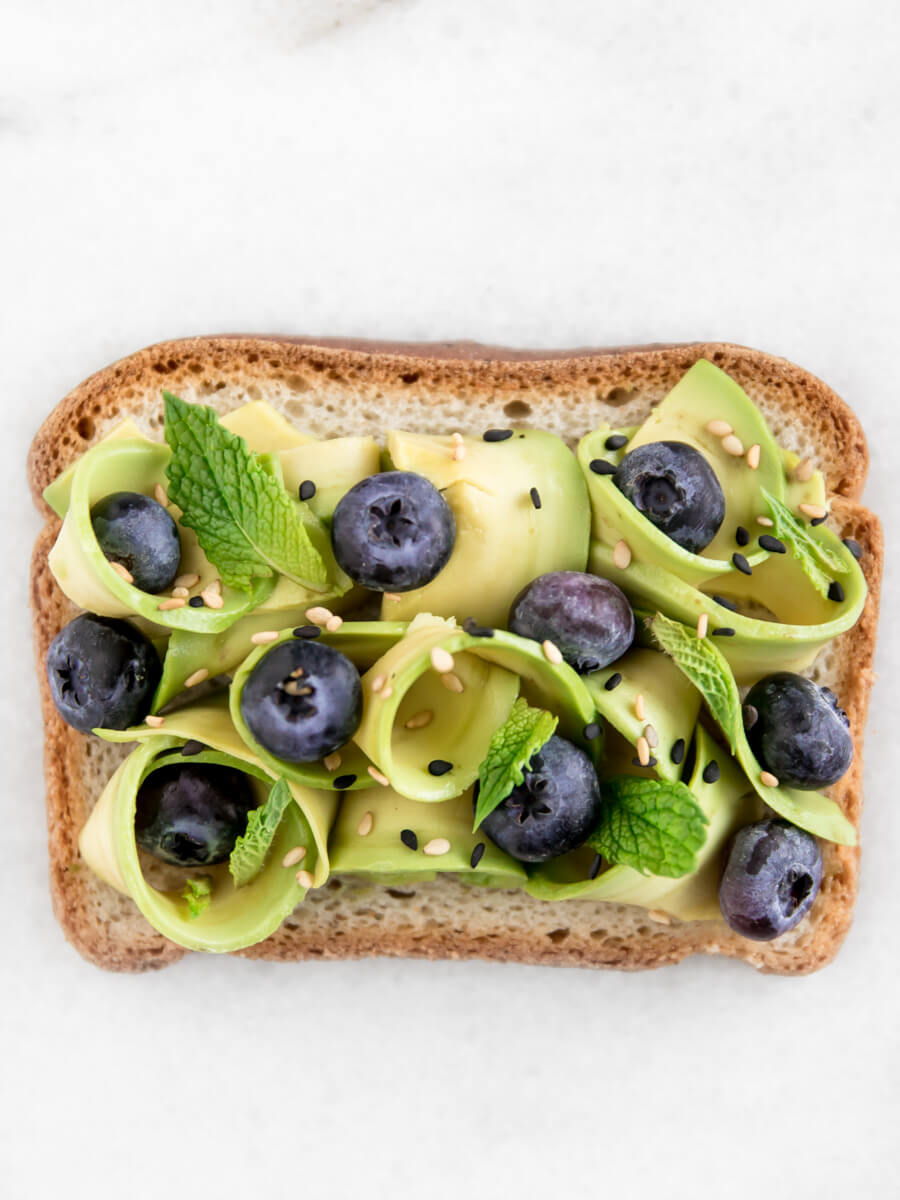 Blueberry Mint avocado toast