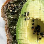 Avocado toast with pesto
