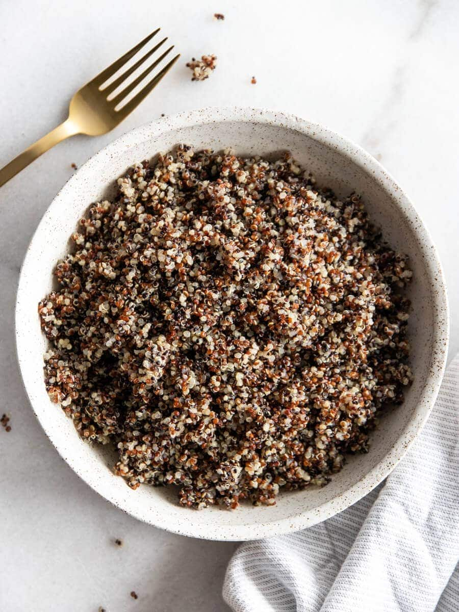 A bowl of quinoa