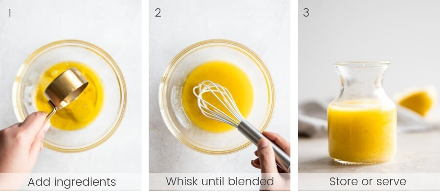 Step by step instructions on how to make the vinaigrette.