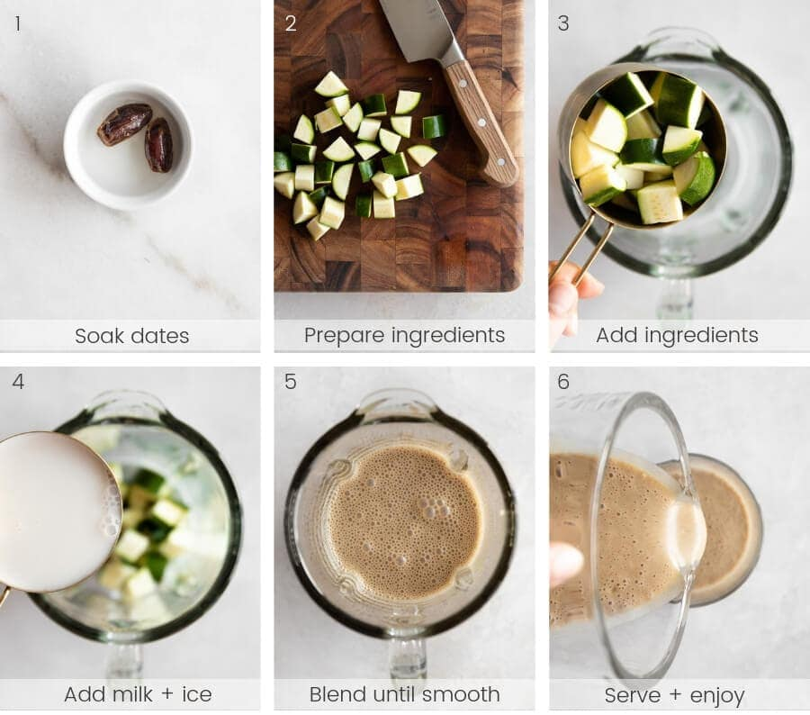 Step-by-step instructions on how to make the smoothie.
