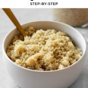 Pin for Instant Pot quinoa.