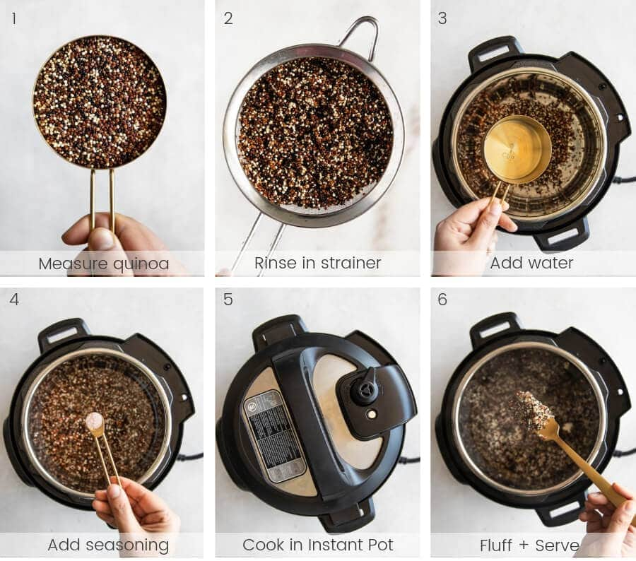 Step by step instructions on how to make quinoa.