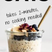 Top your oats with fresh berries and bananas.