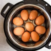 Eggs placed inside of Instant Pot