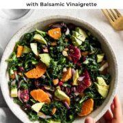 Pin for kale citrus salad.