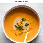 Pin for sweet potato soup.
