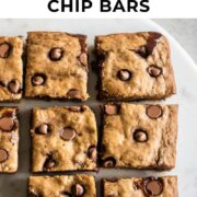 Pin for chocolate chip banana bars post.
