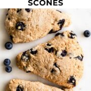 Pin for blueberry scones.