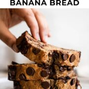 Pin for chocolate chip banana bread.
