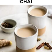 Pin for masala chai recipe.