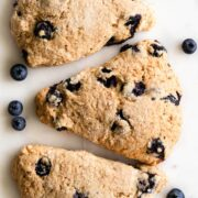 Three blueberry scones.