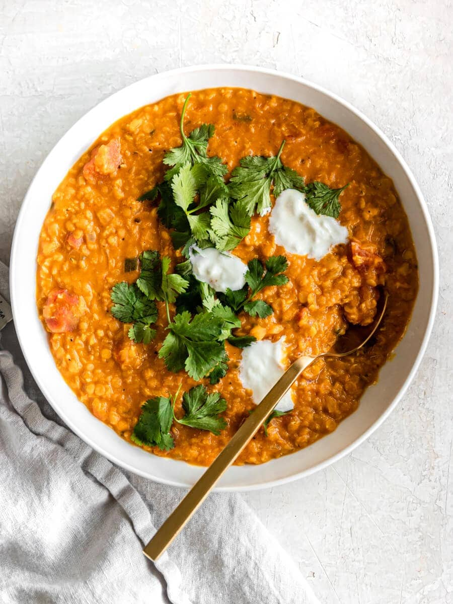 Red Lentil Curry Vegan Easy Delicious Real Vibrant