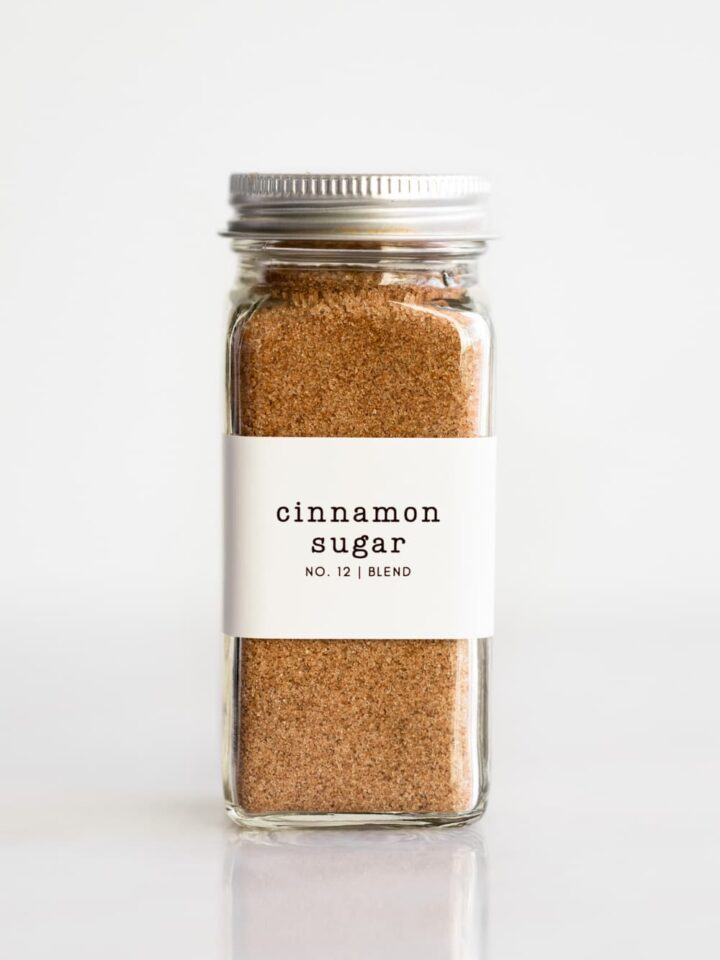 A cinnamon sugar spice jar.